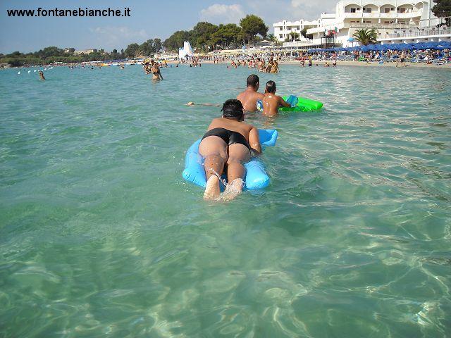 Spiaggia di sabbia bianca a Siracusa località Fontane Bianche